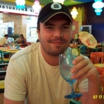 Myself in Cancun at the mall   in a Chinese resturant in Mexico, being served by a guy from America who moved here LOL....getting wasted before we meet with a timeshare jerk guy.. I ended up passing out at the meeting LOL