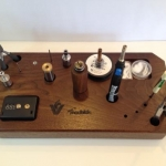 Waxy's Modblok Walnut- Coil Building Station for Fuzion Vapor.