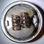 Geekvape Framed Staple Spaced 0.1Ω Dual Coil Build Top View