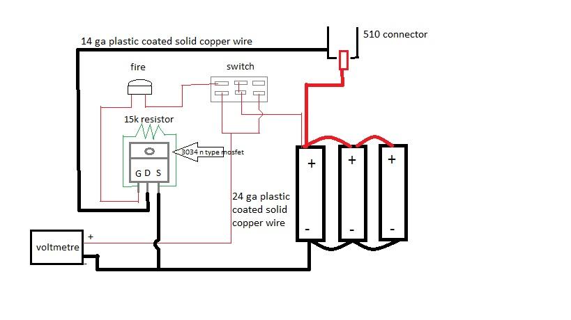 help with parallel triple 18650 mod schematic | E-Cigarette Forum